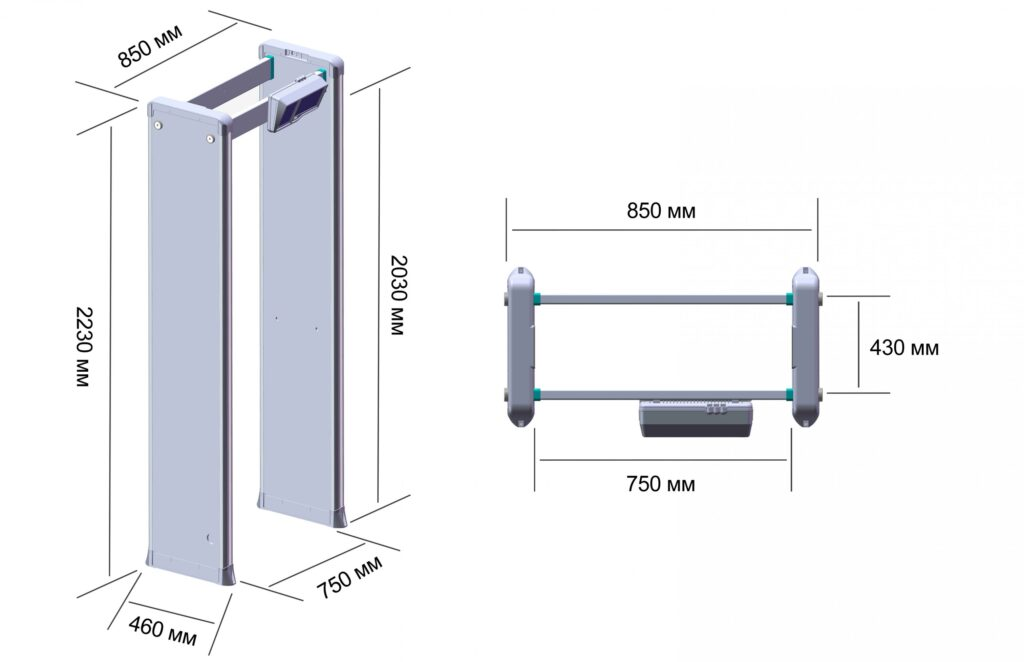 Z razmery 2000 1 1024x662 1 - Арочный металлодетектор БЛОКПОСТ РС Z 1800 MK (18|12|6)