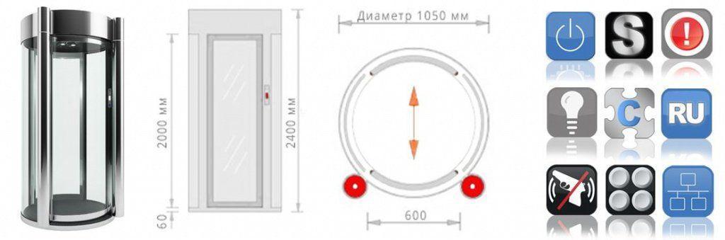 Шлюзовая кабина БЛОКПОСТ КБЦ-600