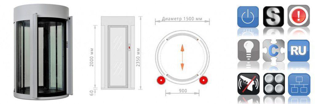 Шлюзовая кабина БЛОКПОСТ КБЦ-900