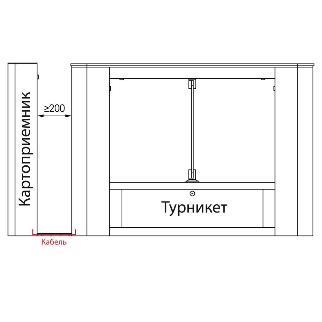 Razmer KP 500 11 1024x1024 - Турникет скоростной БЛОКПОСТ СКП 600