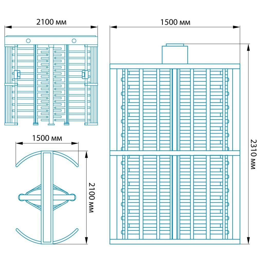 Razmery RST 12001 1024x10241 1 1024x1024 - Полноростовой турникет БЛОКПОСТ РСТ 1200