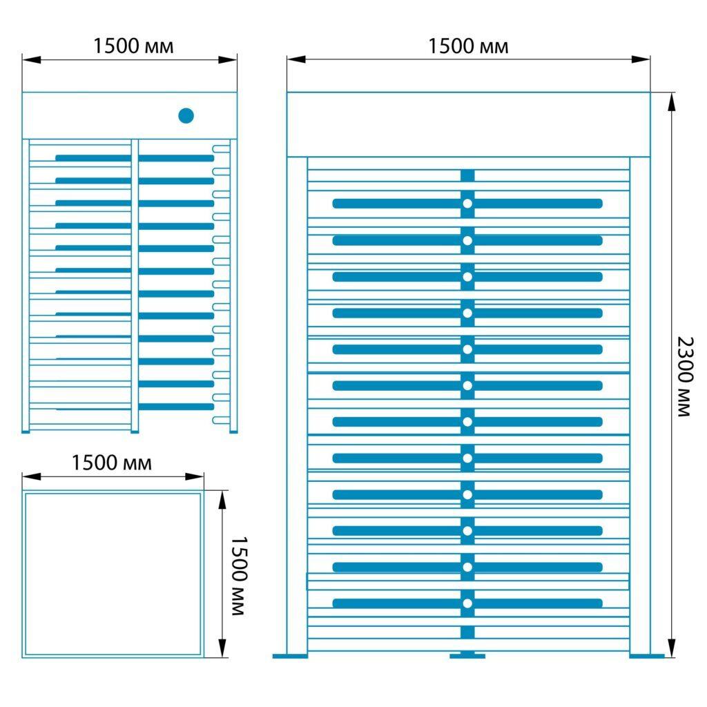 Razmery RST 8001 1024x10241 1 1024x1024 - Полноростовой турникет БЛОКПОСТ РСТ 800