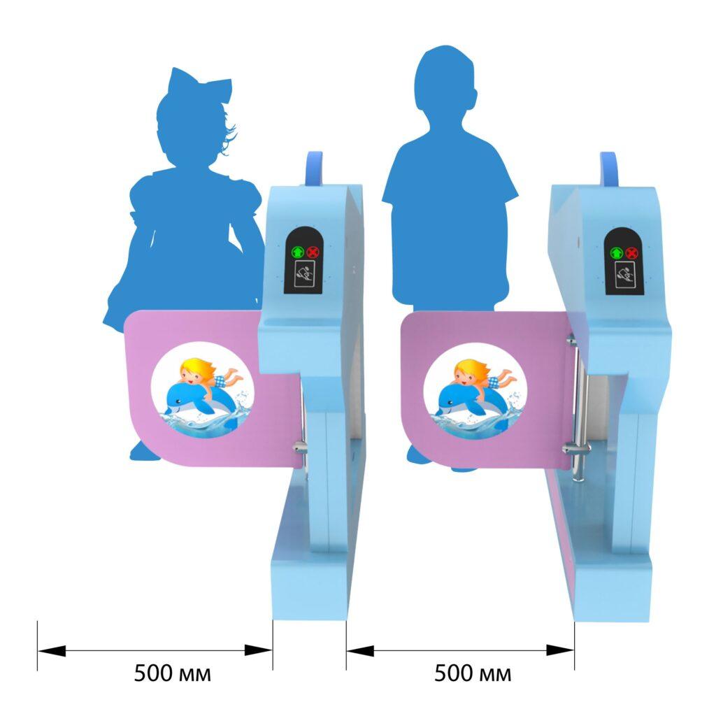 Razmery Turnikety bs 600 21 1024x1024 - Детский турникет БЛОКПОСТ ТД 600