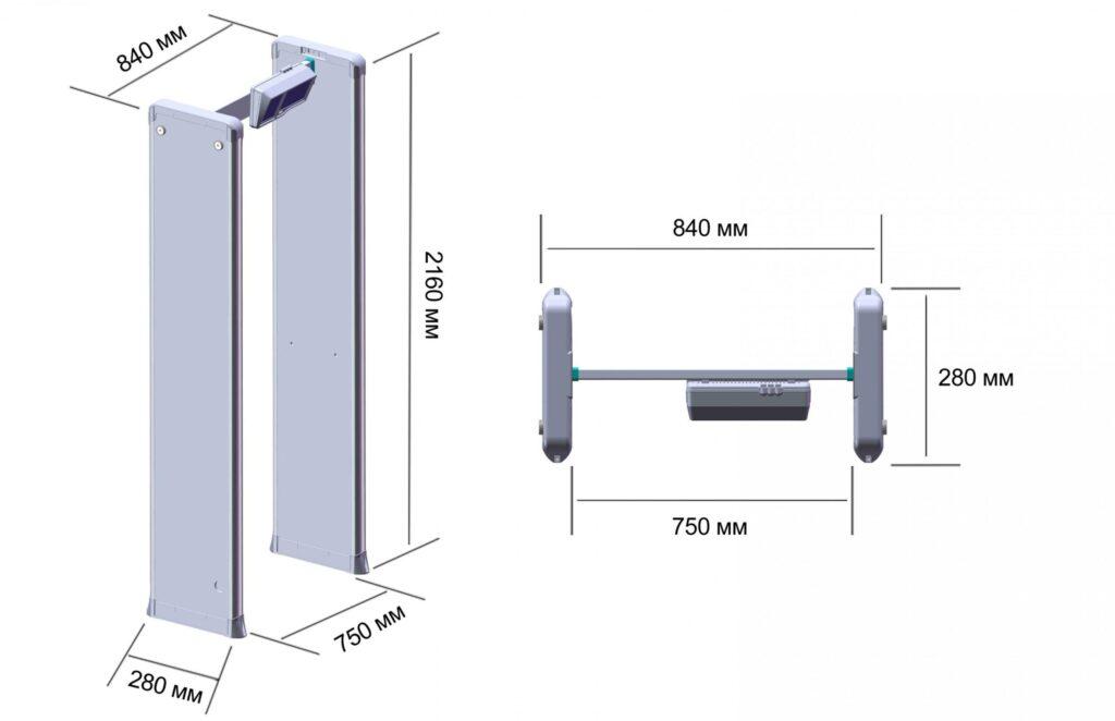 Shema PCZ 1 2000.jpg scaled1 1024x662 - Арочный металлодетектор БЛОКПОСТ PC Z 1