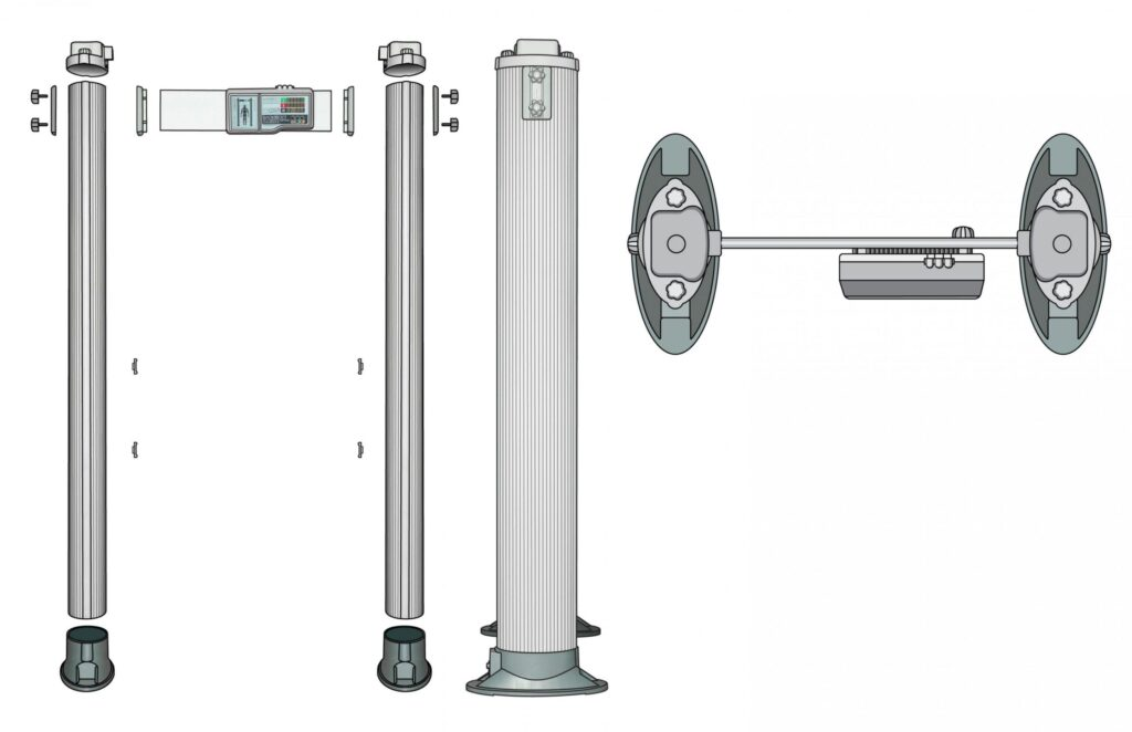 Shema sborky PCX.jpg scaled1 1024x662 - Арочный металлодетектор БЛОКПОСТ РС Х 400 MK (4/2)