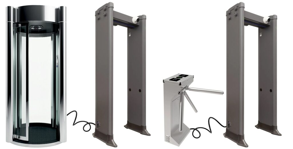 kabina turniket PC 1800 MK 1024x522 - Арочный металлодетектор БЛОКПОСТ PC 1800 MK с функцией температурного контроля