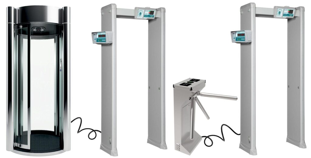 kabina turniket PC I 4.jpg scaled1 1024x522 - Арочный металлодетектор БЛОКПОСТ PC И 4 с измерением температуры тела